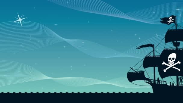Pirátská loď plující 2
