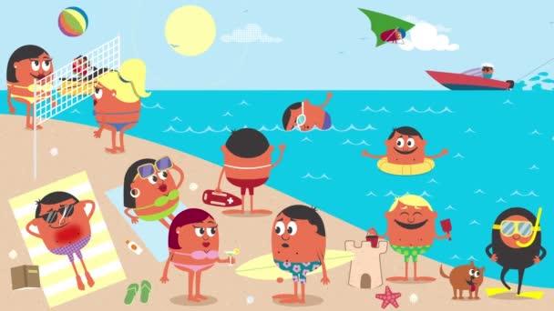 Fun Cartoon Beach