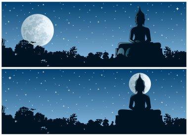 Buddha statue at Night