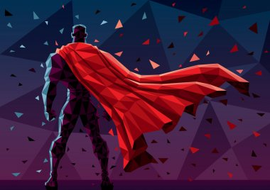Abstract illustration of  superhero
