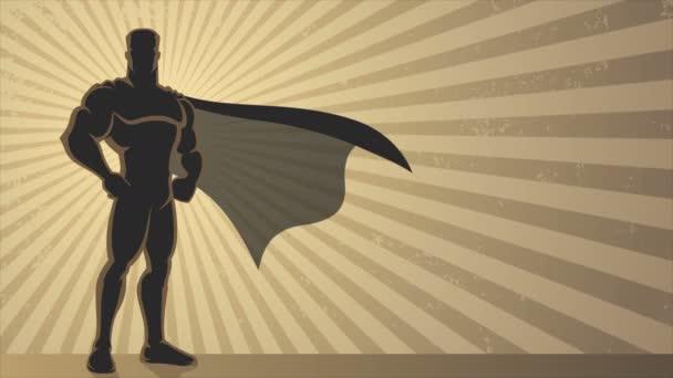 szuperhős háttér hurok