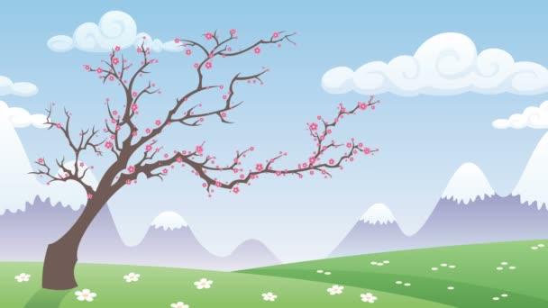 Tavaszi táj animáció
