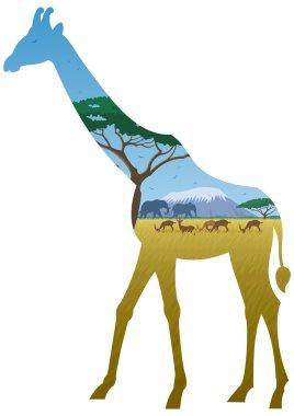 African Giraffe Landscape