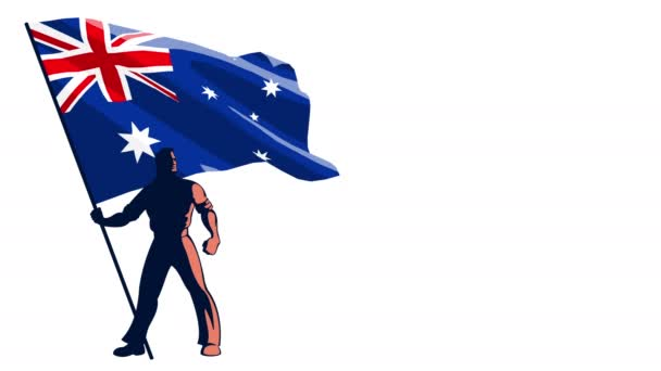 Vlajka Austrálie na doručitele