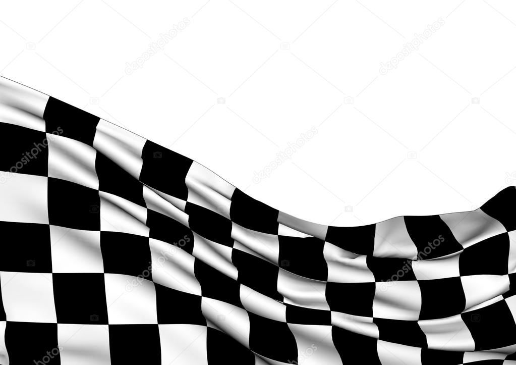 Background with waving racing flag — Stock Photo ...