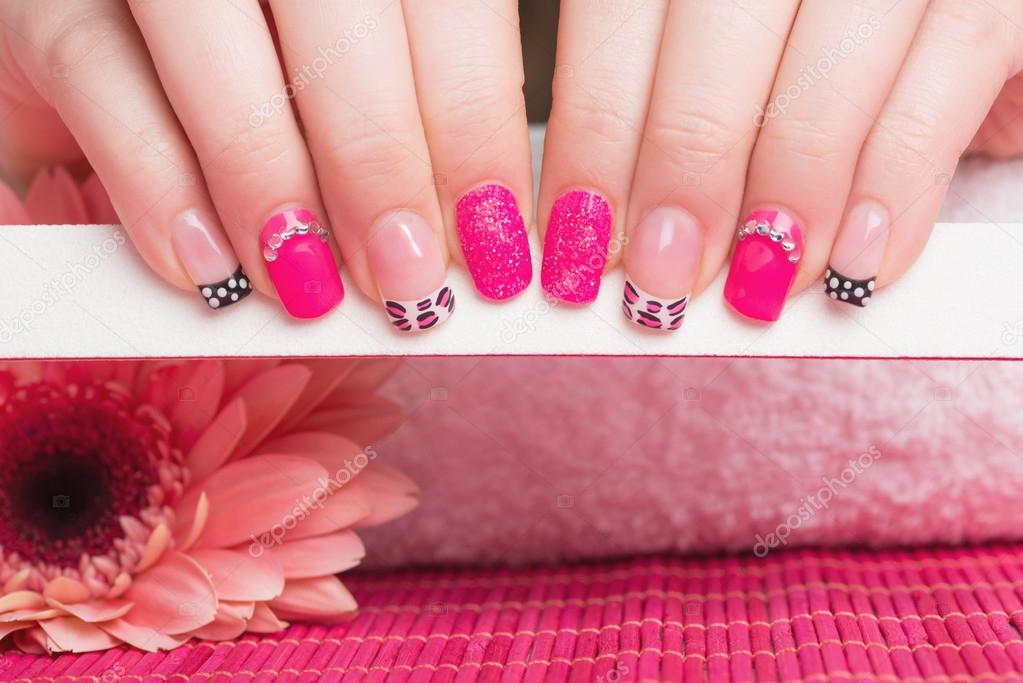 Feminine nail art with animal print stock photo tamara1983 feminine nail art with animal print stock photo prinsesfo Image collections