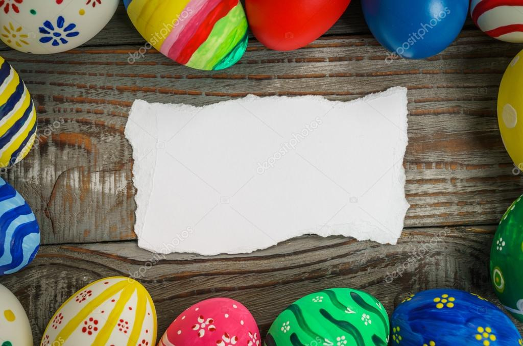 Easter eggs with gift card stock photo jannystockphoto 101926482 easter eggs with gift card stock photo negle Choice Image