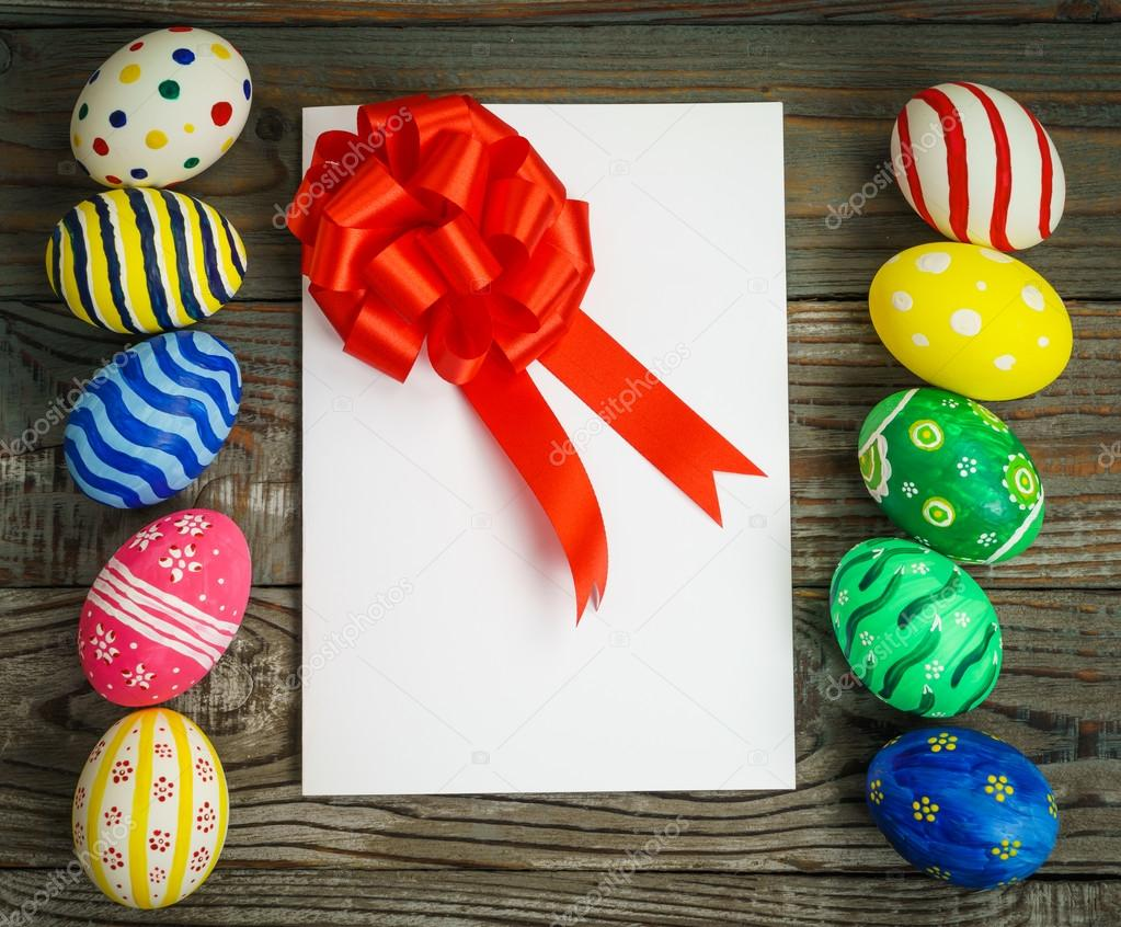 Easter eggs with gift card stock photo jannystockphoto 101929148 easter eggs with gift card stock photo negle Choice Image