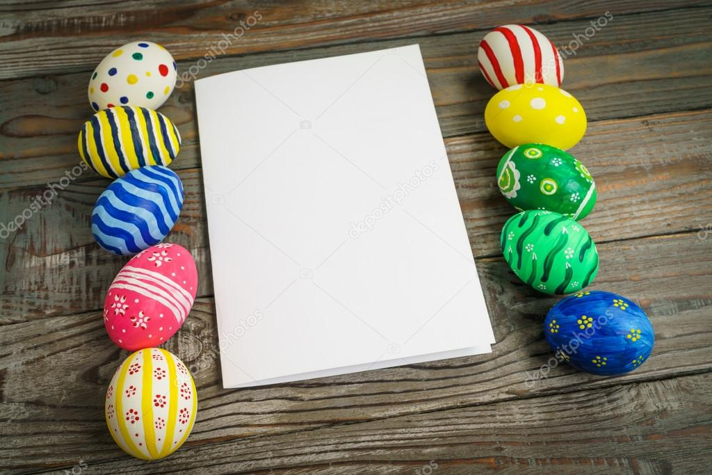 Easter eggs with gift card stock photo jannystockphoto 102538872 easter eggs with gift card stock photo negle Choice Image