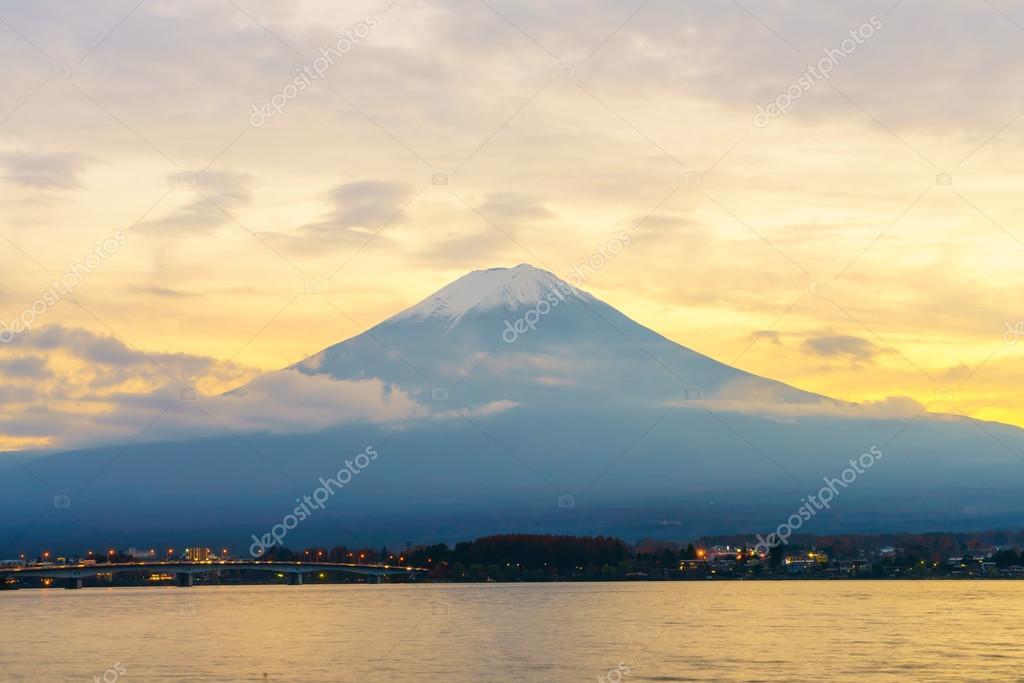 Mount Fuji during sunset