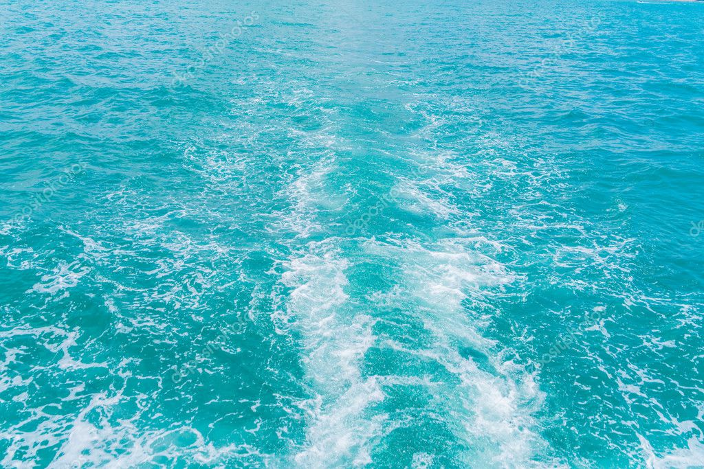 splash waves on sea water