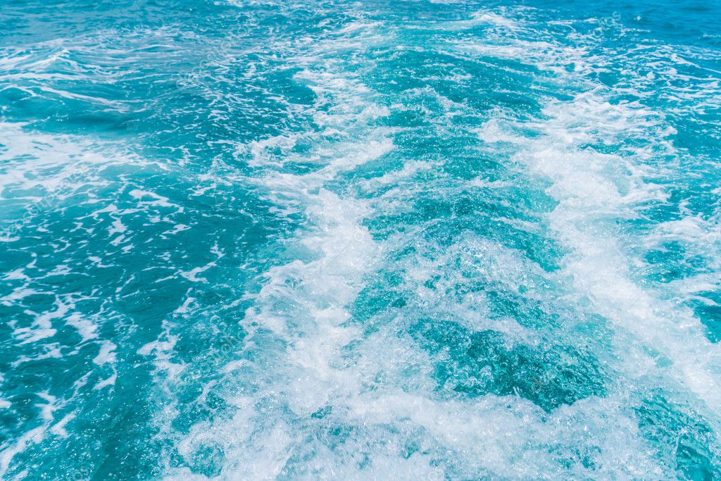 splash waves on sea water