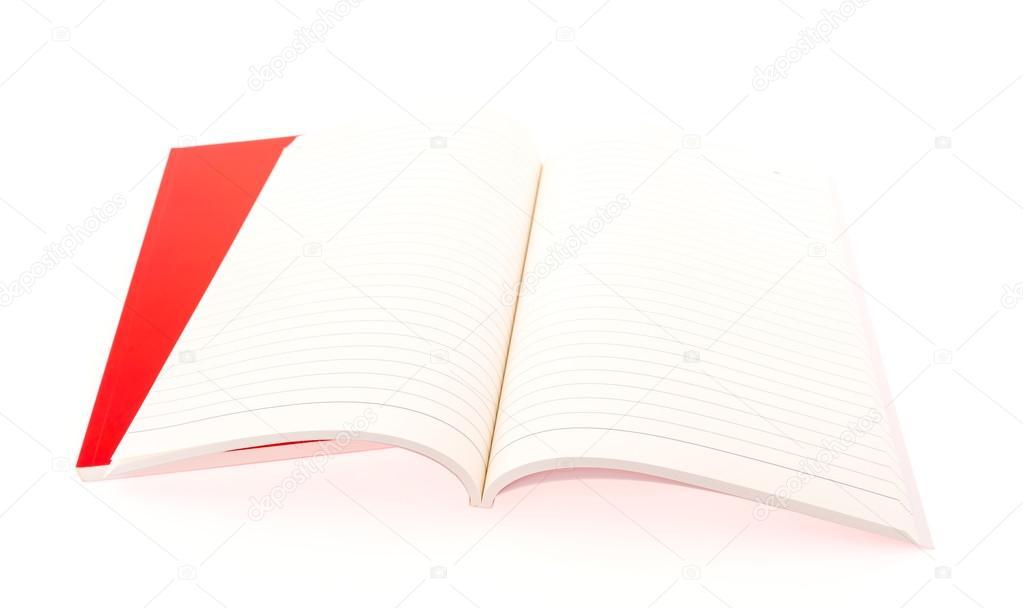 cb7233cf6ef Rot leer Katalog, Broschüre, Zeitschriften, Buch mock-up auf weißem  Hintergrund — Foto von ...