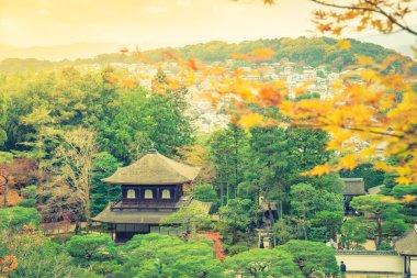 """Картина, постер, плакат, фотообои """"Ginkakuji Храм - Киото, Япония (отфильтрованное изображения обрабатываются vint"""", артикул 118143662"""