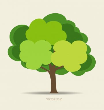 Abstract tree, vector illustration.