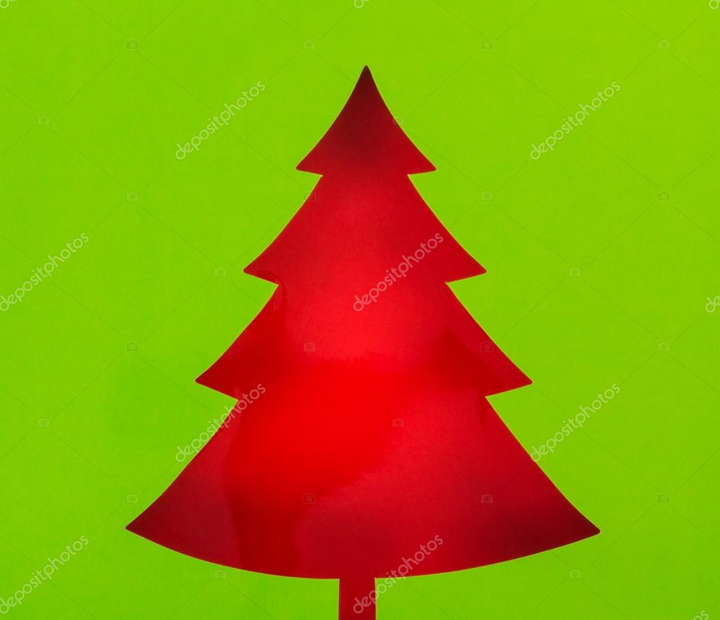 Cartolina Depoca Di Natale Con Albero Di Natale Carta Vera Foto