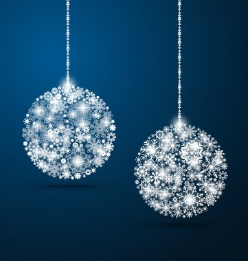 Christmas background with Christmas balls, vector illustration.