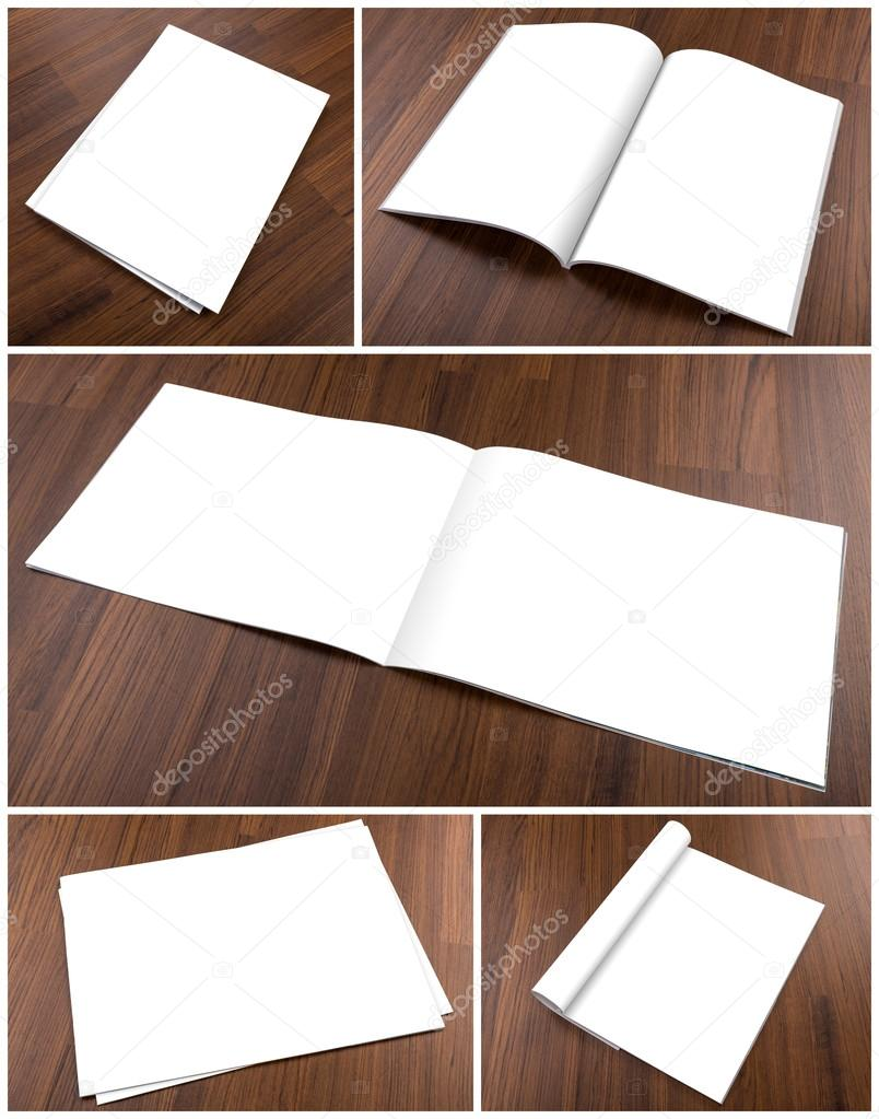 Collection of Blank catalog,brochure, magazines,book mock up on