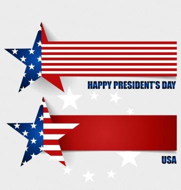 Happy Presidents Day. Presidents day banner illustration design