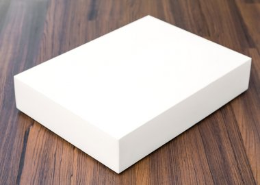 Blank white box mock up