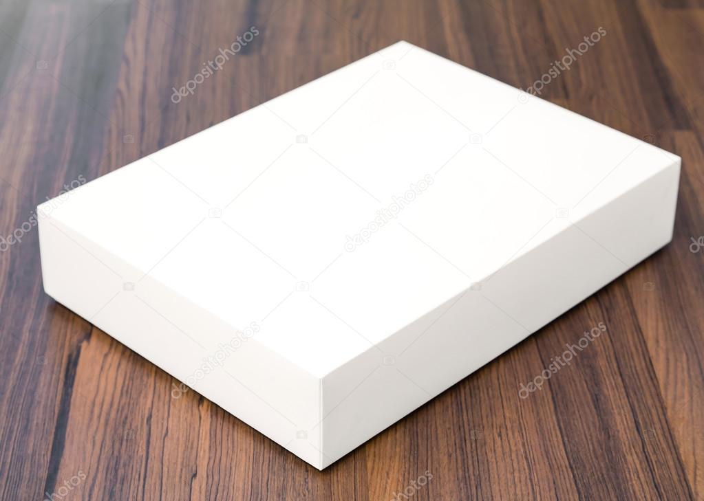 Blank white box mock up