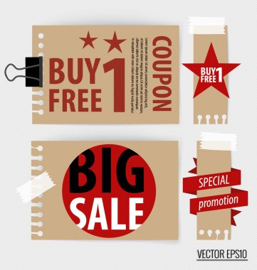 Sale Coupons, vouchers