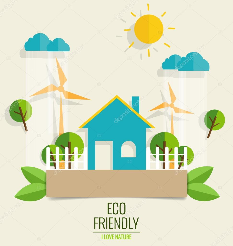 ECO FRIENDLY. Ecology concept