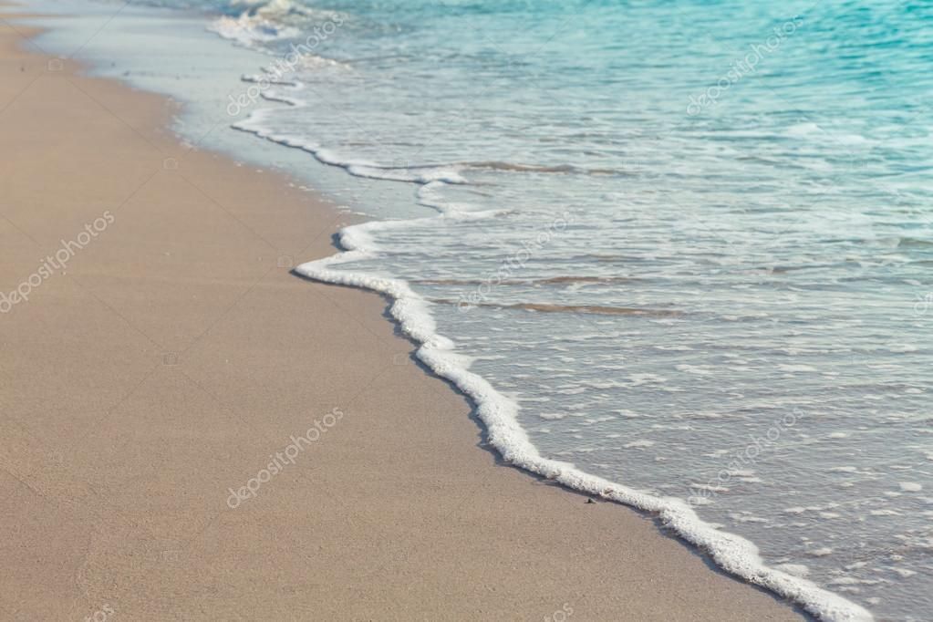 Wave of sea on beach