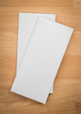Trifold white template papers