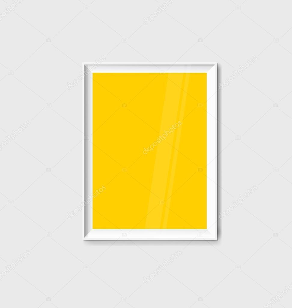 Moderner Rahmen an Wand — Stockvektor © jannystockphoto #88389962