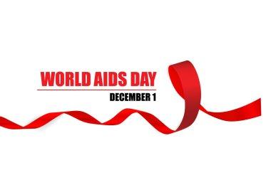 Aids Awareness Red heart Ribbon