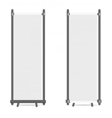 Blank roll up banners displays