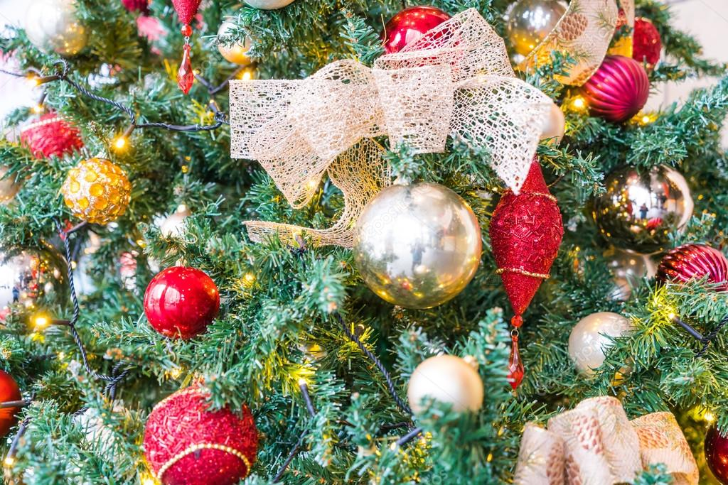 Closeup Of Christmas Tree Decorations Background Photo By Jannystockphoto