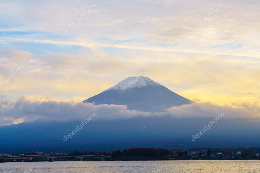 Beautiful Mount Fuji at sunset