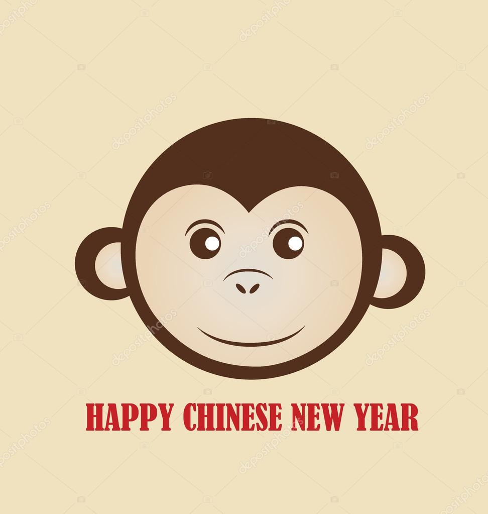 Chinese New Year Design mit Affe — Stockvektor © jannystockphoto ...