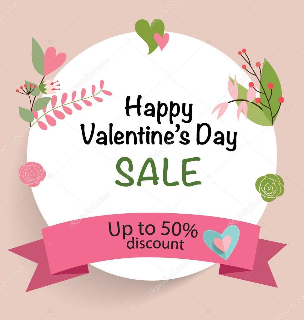 Valentinstag-Verkauf-Gutschein — Stockvektor © jannystockphoto #97376868