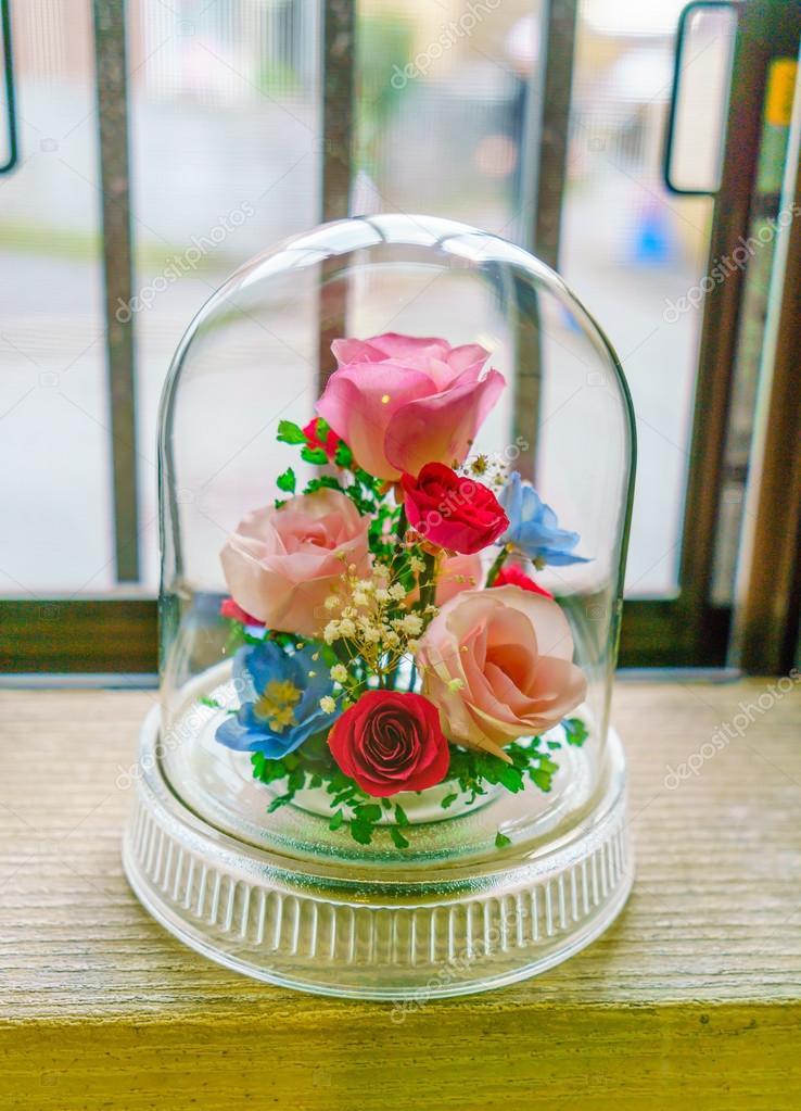Kunstliche Blumen Dekoration Aus Glas Stockfoto C Jannystockphoto