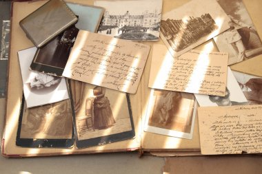 Old photos and correspondence.