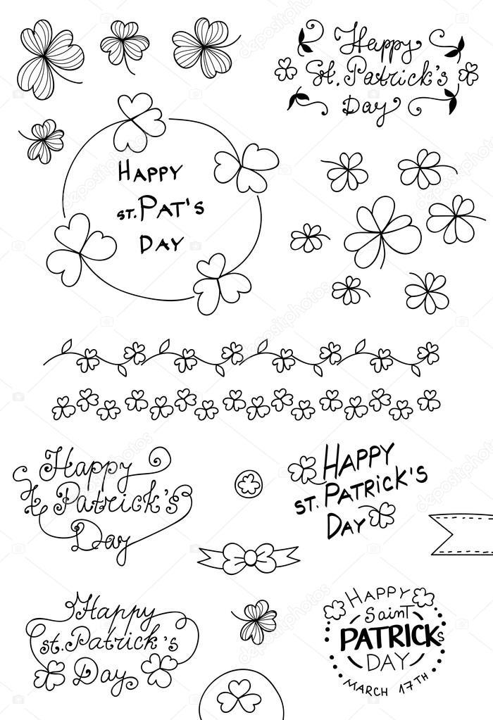 St patricks day set. — Vector de stock © katerinamk #102536392