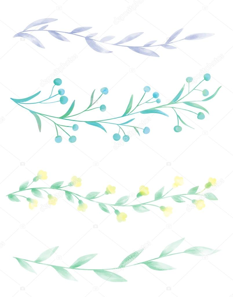 Watercolor borders