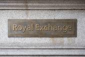 Royal Exchange jel emléktábla a City of London