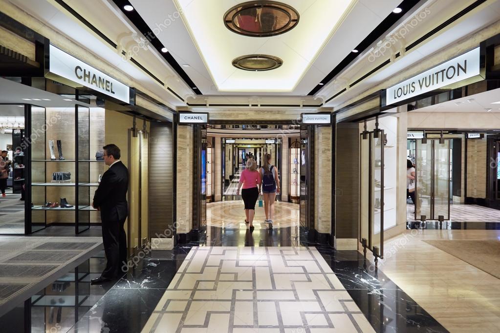 Harrods department store interior, luxury fashion shops in London ...