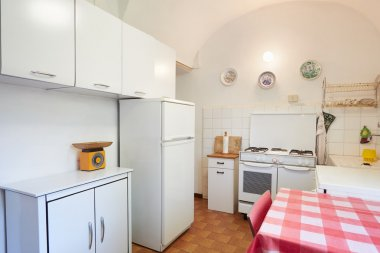 Old kitchen in normal house interior
