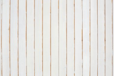 White, vertical wooden planks, peeled texture background stock vector