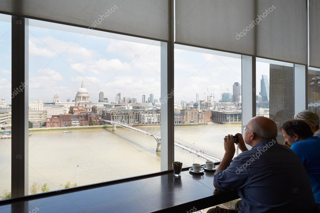 Tate Modern Art Gallery Cafe Interior With People In London Stock Photo Image By Andreaa 97385790