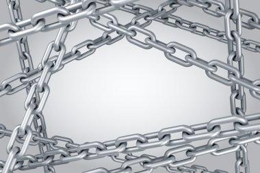 Steel chain background