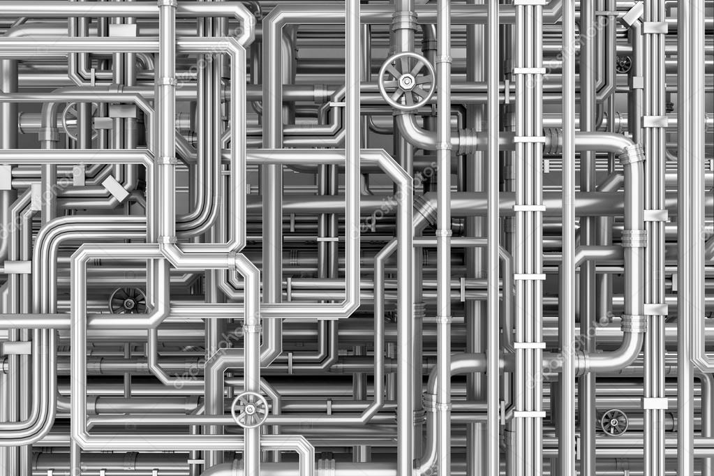 Stock Photo Maze Of Metal Pipes Background on File Maze Type Standard
