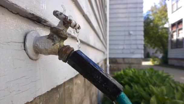Garten Wasserhahn Undicht Stockvideo Nickp37 116076742