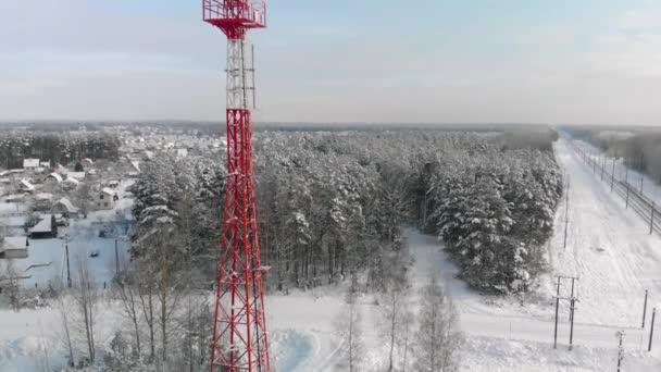 4g und 5g Antenne in ländlichen Gebieten im Winter