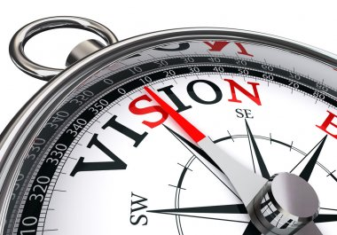 vision word on concept compass